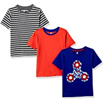 [Size 2- 3Y] Cloth Theory Boy's Regular Fit T-Shirts (Pack of 3)