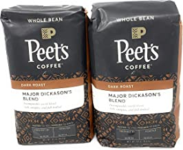 Peet's Coffee, Major Dickason's Blend, Dark Roast, Whole Bean 32oz (2 Pack)