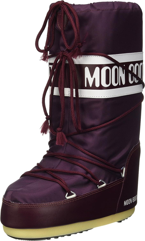 Moon Stiefel - Classic Nylon Damen Winterschuh (weinrot) - EU 35-38