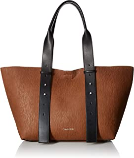 Calvin Klein Jane Bubble Lamb Belted East/West Large Tote