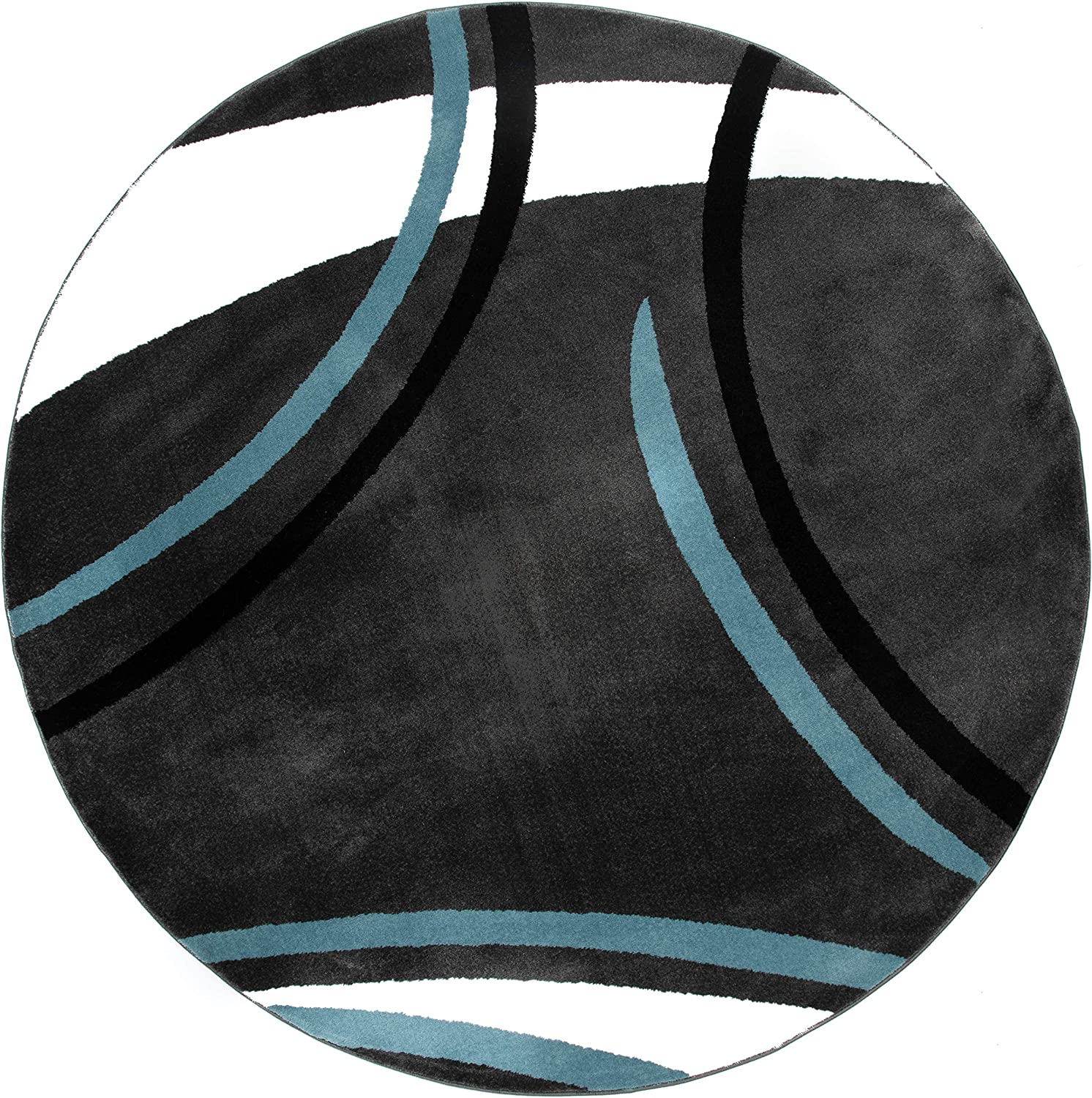 Rugshop Challenge the lowest price of Japan Contemporary Modern Wavy Circles 6