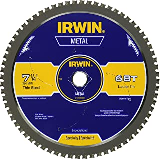IRWIN Metal-Cutting Circular Saw Blade, 7-1/4