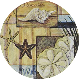 Thirstystone At The Beach II Absorbent Drink Coasters