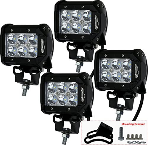 """2021 4 discount Pack - EPAuto 4"""" 18W 1260lm popular Cree LED Light Bar Spot Beam Waterproof Mount for SUV/Boat/Jeep/Van/ATV/SUV/Offroad outlet sale"""