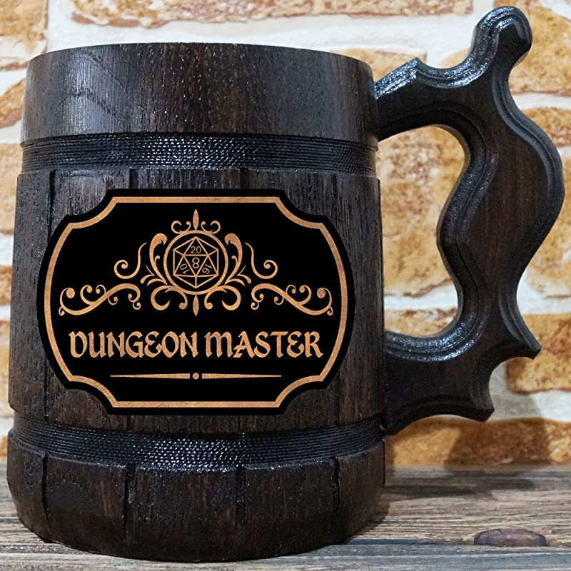Dungeon Master Beer Mug Dungeons Dragons Beer Stein Gamer Gift Beer Stein DnD Tankard Gift For Men DM Gift For Him Geek Gift