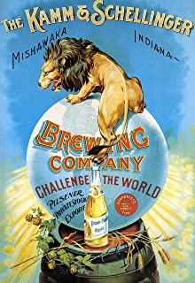 The Kamm and Schellinger Brewing Company - Vintage Beer Advertisement Poster Reproduction (18 x 24)