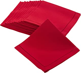 "SARO LIFESTYLE Rochester Collection Napkin, 22"", Red"