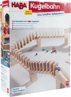 HABA Domino Bridge Set - Marble Ball Track 39 Piece Accessory Set (Made in Germany)