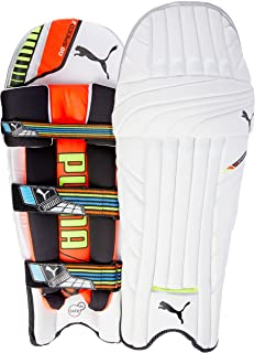Puma, Cricket, Evospeed 2 Batting Pad 2016, Youth, Lava Blast/Safety Yellow, Right hand