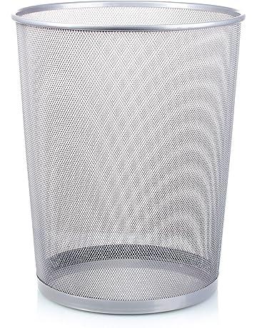 Cestini di sicurezza per la raccolta differenziata dei rifiuti Cestino per la carta nero rotondo capacit/à 30 l