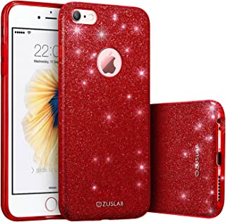 iPhone 6 / 6s Case, ZUSLAB Rosy Series, Bling Luxury Shinning Bumper,Dual Layer Protective Glitter Cover for Apple iPhone ...