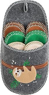 ONVAYA® ABS Pantofola per gli ospiti | Motibo bradipo | Set di 6 | Suola antiscivolo | Pantofole | Pantofola di feltro | T...