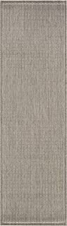 Couristan Recife Saddle Stitch Indoor/Outdoor Rug Champagne/Taupe, 2'3