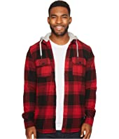 DC - Runnel Flannel Long Sleeve Hooded Shirt