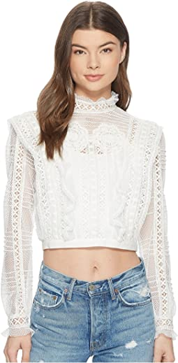 For Love and Lemons Victorian Tulle Blouse