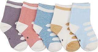 ANIMQUE Bebé recién nacido calcetines de invierno con forro térmico, dulce y encantador motivo de dibujos animados 0-36 me...