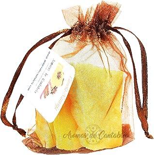 Aromas de Cantabria® Canela-Naranja Saquito aromatizador para armario,100% natural y hecho a mano, no mancha, 100% artesan...