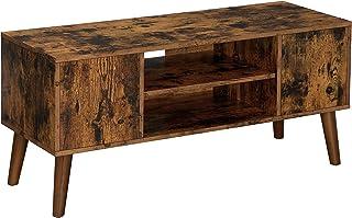 VASAGLE Meuble TV Rustique, Table Basse, Buffet Bas, Style Moderne du Milieu du siècle, pour Télévision, Console de Jeux, ...