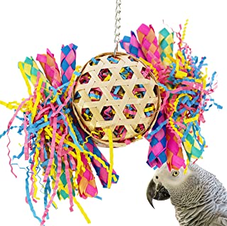 Bonka Bird Toys Small Large Drum Round Basket Cage Toys Cages Foraging Chew Shredder Conure