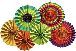 YEENI Fans de Fiesta | Decoraciones de la fiesta | Boda Mexicana | Fiesta nupcial | Fans de papel mexicanos | Ventiladores de papel | Fiesta Fiesta | Fiesta Rainbow Banner | Aficionados