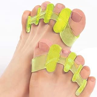 BunionPal: Fluorescent Toe Separators and Gel Toe Spacers, Toe Stretchers & Toe Straightener for Big Toe, Bunion Corrector, Plantar Fasciitis, Hammer Toe, Hallux Valgus, Bunionnette, Foot Pain Relief.