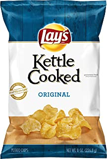 Lay's Kettle Cooked Potato Chips, Original, 8 Ounce