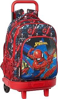 Mochila Escolar con Carro Incluido y Espalda Acolchada de SpiderMan Go Hero, 330x220x450mm