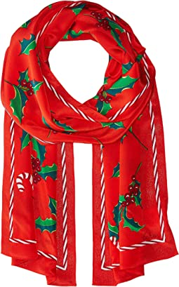Echo Design - Holly Jolly Silk Oblong Scarf