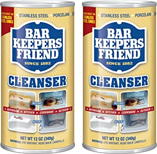 Bar Keepers Friend Powdered Cleanser 12-Ounces (2-Pack)