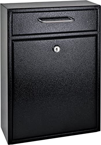 Mail Boss 7412 High Security Steel Locking Wall Mounted Mailbox, Office Drop Box, Comment Box, Letter Box, Deposit Bo...