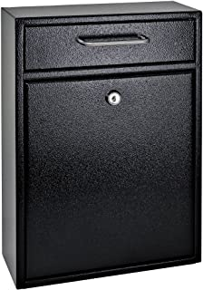 Mail Boss 7412 High Security Steel Locking Wall Mounted Mailbox-Office Comment Letter..