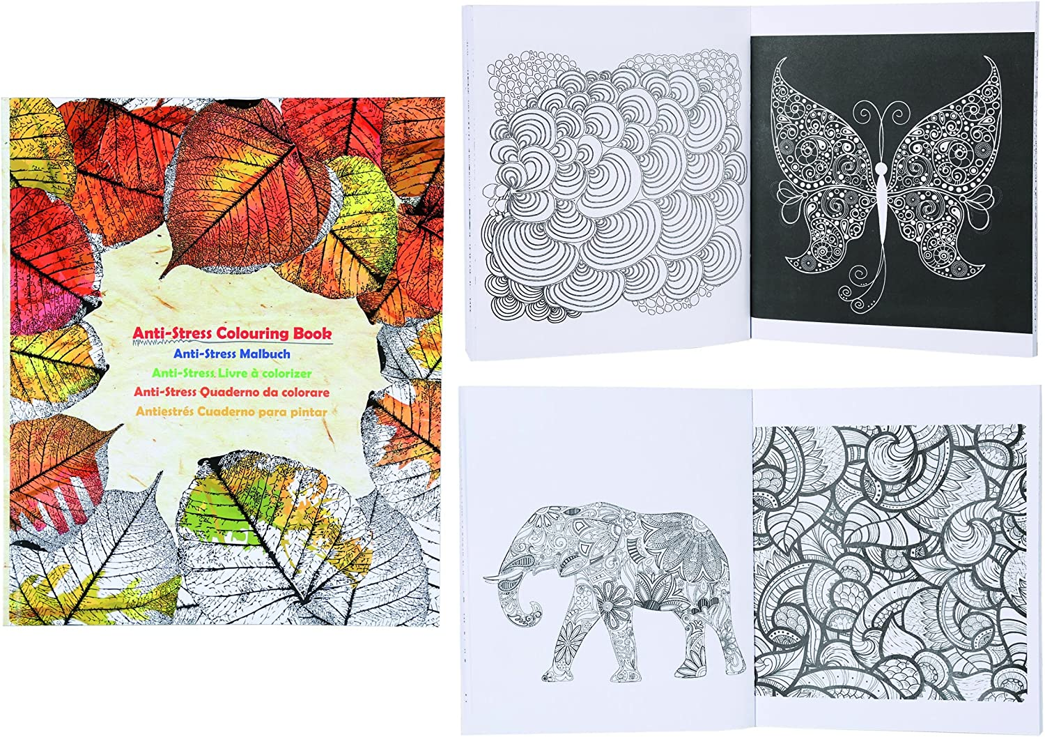 Perfect present gift. Antistress colouring colouring colouring book. Great for wet days B07KWWW4ZP | Niedriger Preis