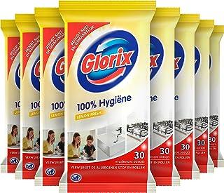 Glorix Schoonmaakdoekjes Lemon Fresh, 100% Hygiëne - 10 x 30 doekjes - Voordeelverpakking