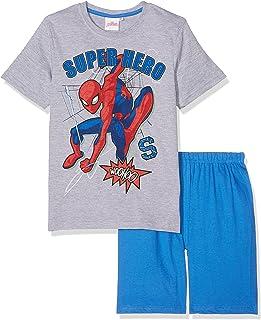 Spiderman Pijama corto para niño, color gris