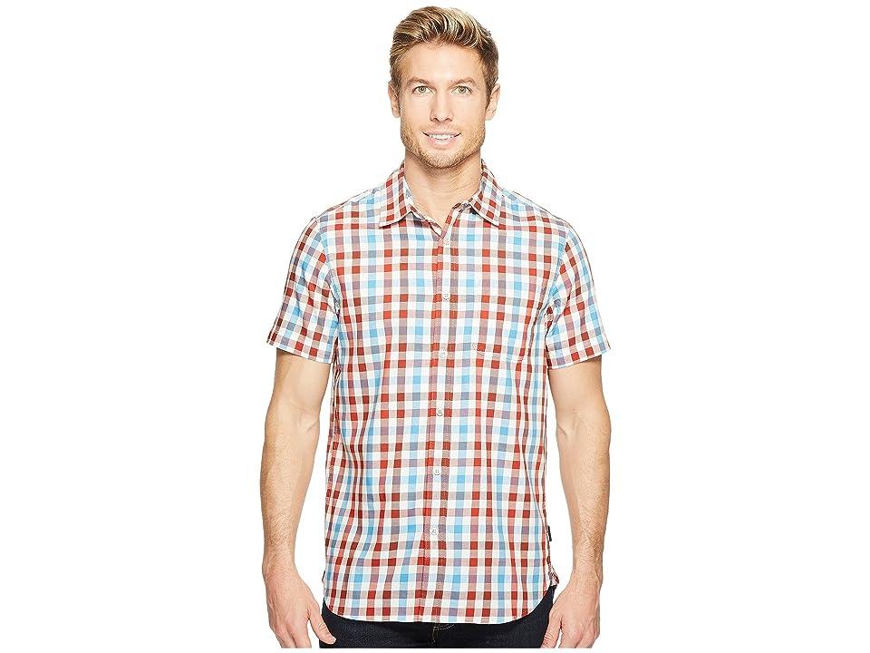 The North Face Short Sleeve Hayden Pass Shirt (Ketchup Red Plaid) Men