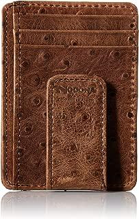 Nocona Belt Co. Men's Nocona Brown Ostrich Magnet Money