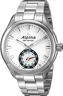 Men's AL-285S5AQ6B Horological Smart Analog Display Swiss Quartz Silver Watch