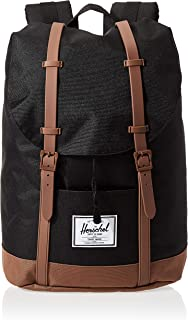 Herschel Retreat Backpack, Black/Saddle Brown, One Size