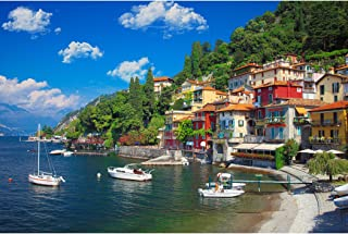 Lavievert 1000 Piece Jigsaw Puzzles Lake Como, Italy Puzzle for Adults and Families