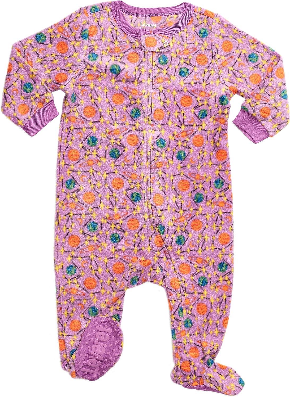 Leveret Fleece Baby Girls Footed Pajamas Sleeper Kids & Toddler Pajamas (3 Months-5 Toddler)