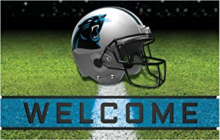 FANMATS 19937 Team Color Crumb Rubber Carolina Panthers Door Mat, 1 Pack, One Size
