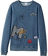 Little Marc Jacobs - MTV Style Badges Long Sleeve Sweatshirt (Big Kids)