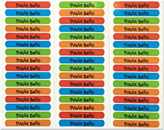 50 Etiquetas Adhesivas Personalizadas para marcar objetos, libros, fiambreras, etc. Medida 6