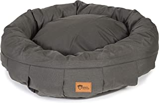 Superior Pet Goods Harley Canvas Dog Bed, Charcoal, Large