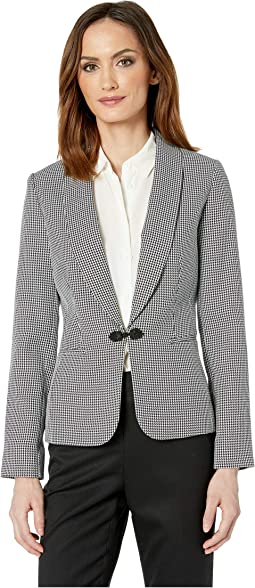 Houndstooth Jacket with Closure