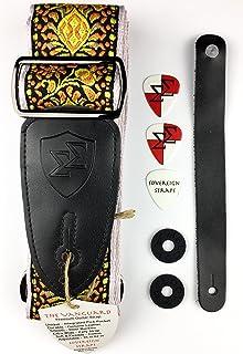 Soberano correas Premium Tejido De Guitarra o Bajo correa w/púas, cerraduras, y