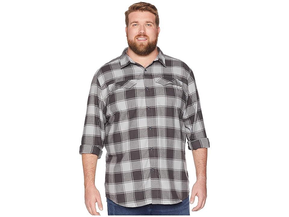Columbia Big Tall Silver Ridgetm Flannel Long Sleeve Shirt (Columbia Grey Buffalo Plaid) Men