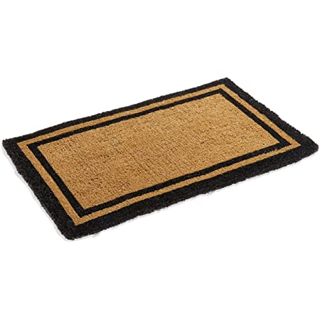 """Natural Coco Coir Outdoor doormats with Black Border Keep Your House/Office Clean - Welcome Guests with Outdoor Heavy Duty Doormats 24"""" X 72"""""""