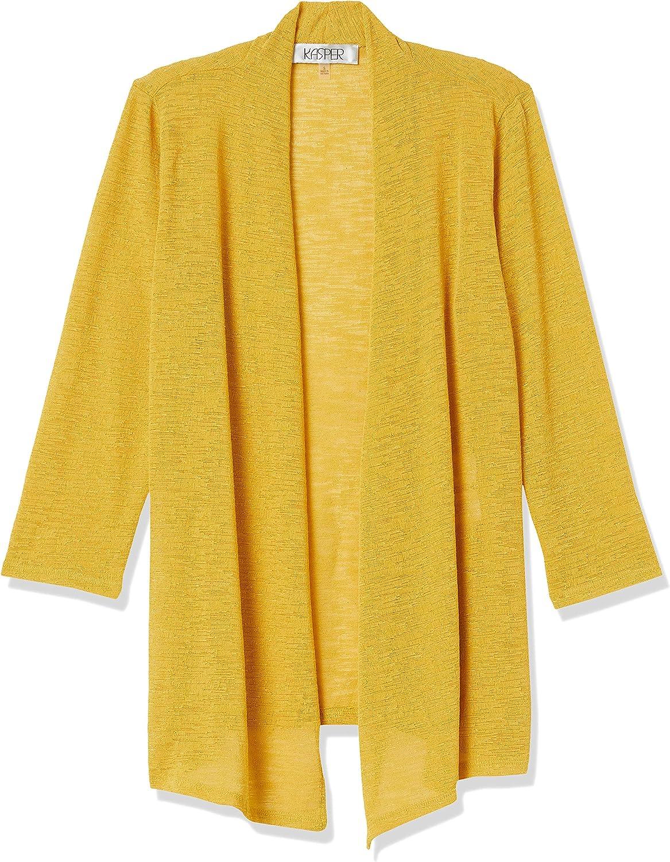Kasper Women's Solid Onion Skin 3/4 Sleeve Cozy