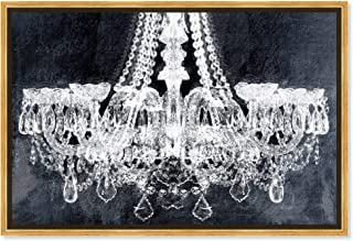 The Oliver Gal Artist Co. Fashion and Glam Framed Wall Art Canvas Prints `Breakfast at Tiffany`s` Chandeliers Home Décor, ...